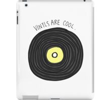Vinyls are Cool (Grey) iPad Case/Skin