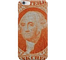 """""""1864 Internal Revenue Two-Cent Stamp"""" iPhone Case/Skin"""