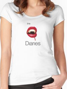 The V Diaries. Women's Fitted Scoop T-Shirt