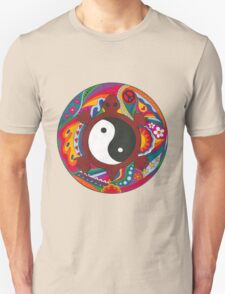 Psychedelic Turtle Yin Yang Unisex T-Shirt