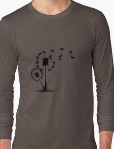 Small Flying Dandelion Men Long Sleeve T-Shirt