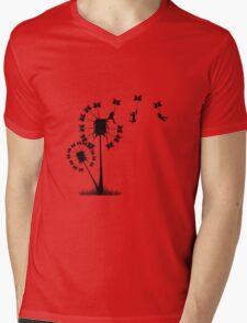 Small Flying Dandelion Men Mens V-Neck T-Shirt