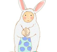 Easter Bunny with easter eggs Sticker