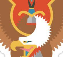 Flat Design Eagle Sticker