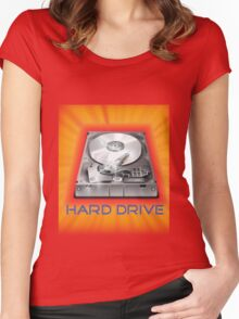 Hard Drive Women's Fitted Scoop T-Shirt