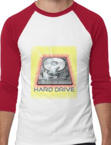 Hard Drive Men's Baseball ¾ T-Shirt