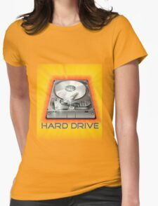 Hard Drive Womens Fitted T-Shirt