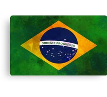 The flag of Brazil Canvas Print