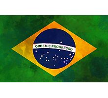 The flag of Brazil Photographic Print