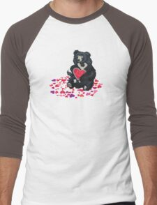 LOVE: Bears (Sloth) Men's Baseball ¾ T-Shirt