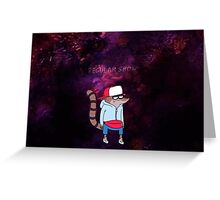 Regular show rigby Greeting Card