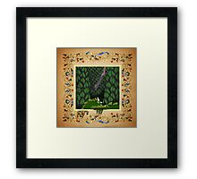 Oscar began think it was all in vain Framed Print