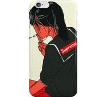 Supreme X School Girl tee iPhone Case/Skin