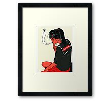 Supreme X School Girl tee Framed Print