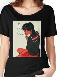 Supreme X School Girl tee Women's Relaxed Fit T-Shirt