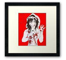 jeff the killer  Framed Print