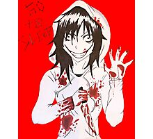 jeff the killer  Photographic Print