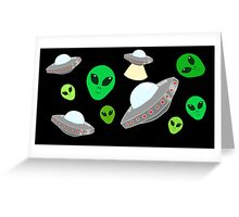 Space ft Alien Greeting Card