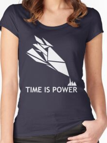 Time Is Power (Quantum Break Inspired Shirt) Women's Fitted Scoop T-Shirt