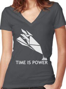 Time Is Power (Quantum Break Inspired Shirt) Women's Fitted V-Neck T-Shirt