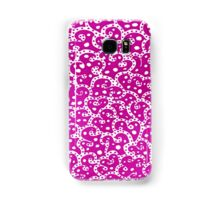 Phone Harmonics (Pink on White) Samsung Galaxy Case/Skin