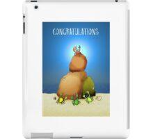 Congratulations, crabs climbing rocks. iPad Case/Skin