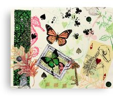Butterflies and Playing Cards Canvas Print