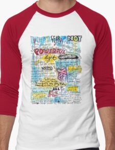"""Marianne Williamson Quote - """"Our deepest fear is not that we are inadequate"""" Men's Baseball ¾ T-Shirt"""