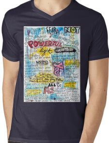 "Marianne Williamson Quote - ""Our deepest fear is not that we are inadequate"" Mens V-Neck T-Shirt"