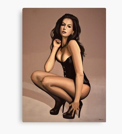 Anne Hathaway Painting Canvas Print