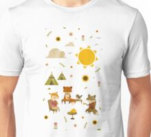 Woodland Animal Tea Party Unisex T-Shirt