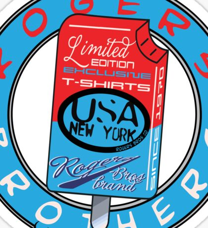 usa new york by rogers brothers Sticker