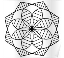 Kaleidoscope Mandala Poster