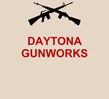 Daytona Gunworks Logo - Black & Red Unisex T-Shirt