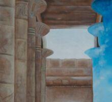 """Ancient Passage"" 48X48 Acrylic On Canvas Sticker"
