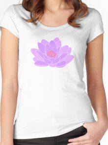 Purple Water Lily Women's Fitted Scoop T-Shirt