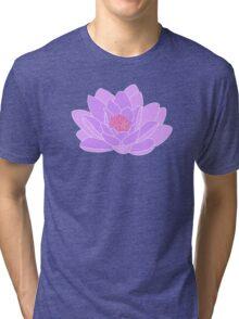 Purple Water Lily Tri-blend T-Shirt