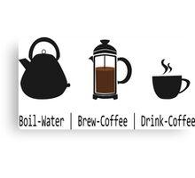 Brew-Coffee Canvas Print