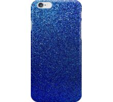 Deep Blue Glitter Shiny Gilttery Paper iPhone Case/Skin