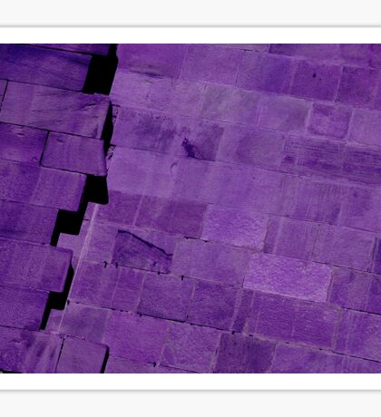 Purple Bricks Sticker