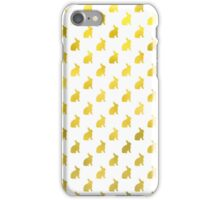 Gold Bunny Faux Foil Bunnies Pattern  iPhone Case/Skin