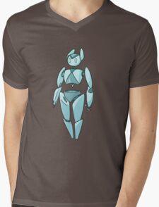 Simple Robot Mens V-Neck T-Shirt