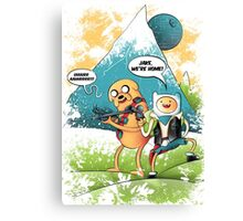 ADVENTURE TIME - JAKE, WE'RE HOME! Canvas Print