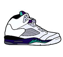 Jordan 5 Retro Grape Shoes Photographic Print