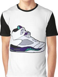 Jordan 5 Retro Grape Shoes Graphic T-Shirt