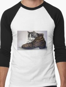Kitten in Shoe Men's Baseball ¾ T-Shirt