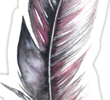 Watercolor Feather Art Sticker