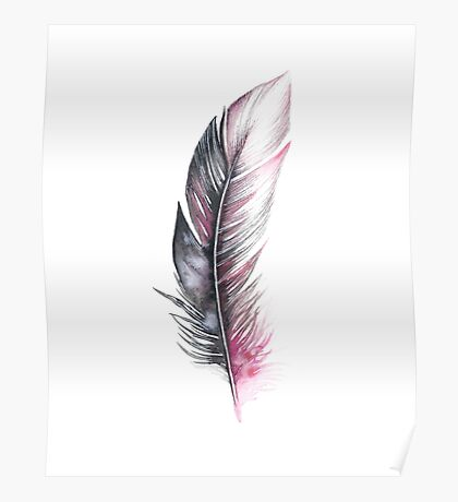 Watercolor Feather Art Poster