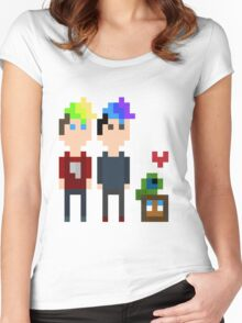 Pixel Jack, Mark and Friends Women's Fitted Scoop T-Shirt