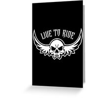 live rider Greeting Card